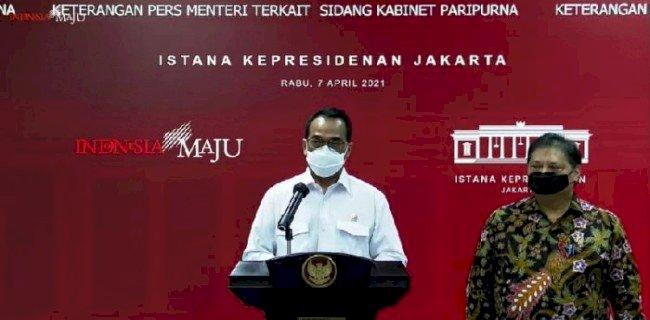 Menteri Perhubungan Budi Karya Sumadi dalam jumpa pers usai Sidang Kabinet Paripurna di Istana Merdeka, Jakarta Pusat, yang dikutip melalui kanal Youtube Sekretariat Presiden, Rabu, 7 April/Repro